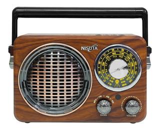 Parlante Radio Bluetooth Portatil Vintage Ns-rv17 - Nisuta