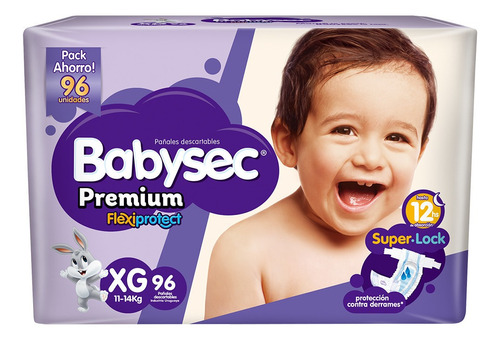 Pañalesbabysec Premium Xg X 96 - Bebés Y Niños