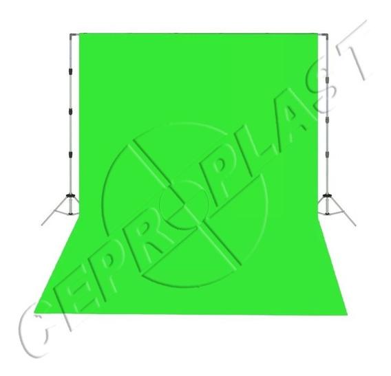 3 Tecido 3x4 Verde/bran/preto Suporte 3x3 + Bolsa+presilhas