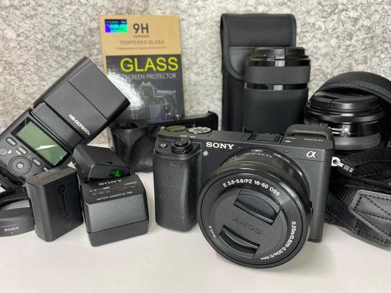 Câmera Sony Alpha A6300 Com Lentes E Acessórios