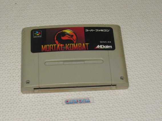 Mortal Kombat Original Super Famicom Snes Japones