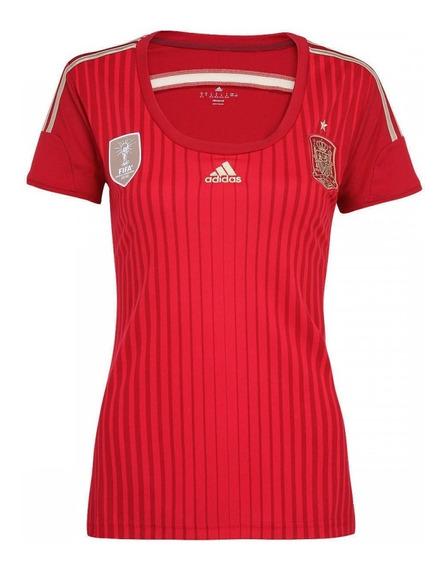 Camisa Feminina Espanha - Copa 2014 Vermelha