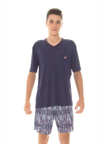 Pijama Juvenil Masculino Recco Modo Avião Microfibra 09484