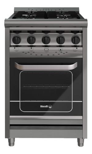 Imagen 1 de 2 de Cocina industrial Morelli Country 550 a gas 4 hornallas  acero inoxidable 220V puerta  con visor