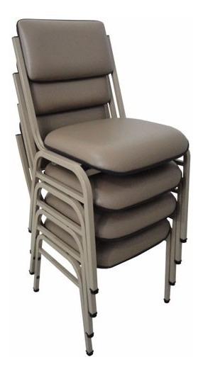 Cadeira Fixa Empilhavel Hotelaria 4 Pés Estofada Campinas Sp