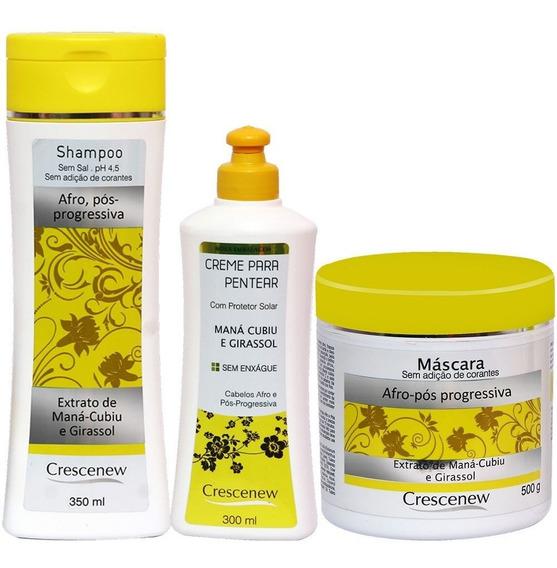 Kit Com Shampoo, Creme E Máscara Girassol - Cabelo Cacheado