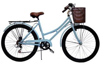 Bicicleta Vintage Hot Sale R 26 Con Cambios Color Beige