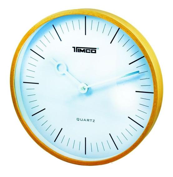 Reloj De Pared Bambú Redondo Fa-6470-r
