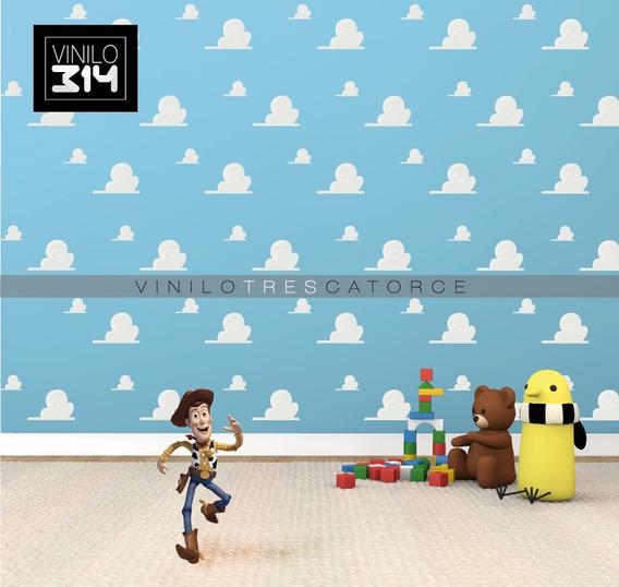 Vinilo Decorativo Nubes Toy Story Plantilla Con 50 Stickers