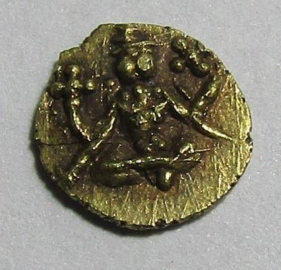 India Reino De Mysore Moneda Fanam De Oro 1799 Al 1868