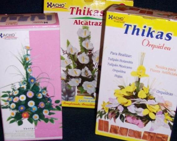 14 Pares Moldes Para Flores C/ Goma Eva - Orq Calas Mini