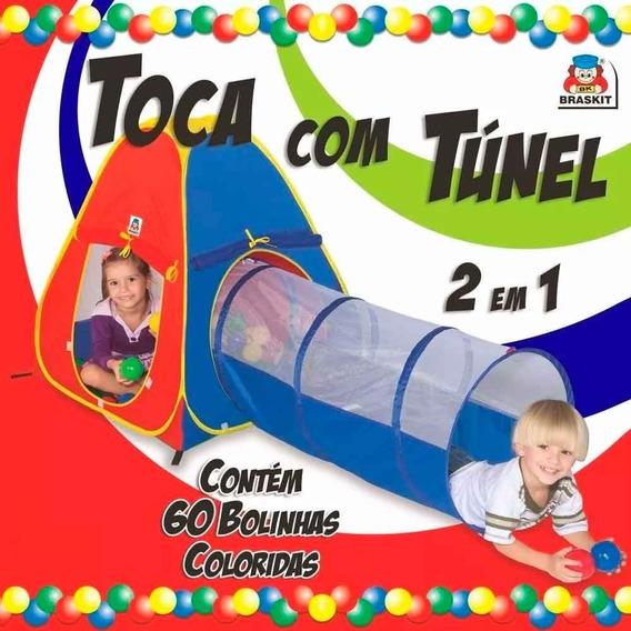 Barraca Cabana Toca Túnel Infantil Tipo Piscina De Bolinhas