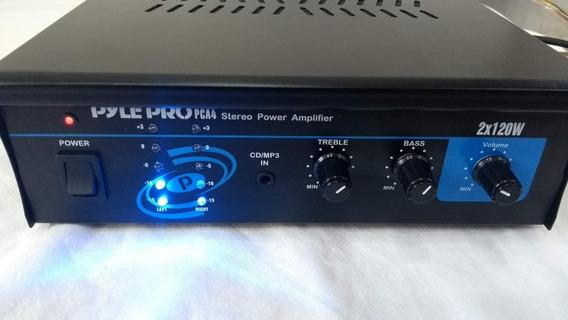 Mini Amplificador Compacto E Poderoso Pyle Pro Pca4