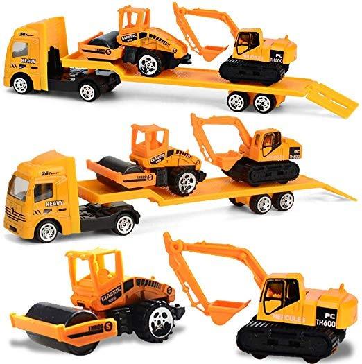 Minyn Juego De Juguetes Para Camión Con Tractor De Cama Plan