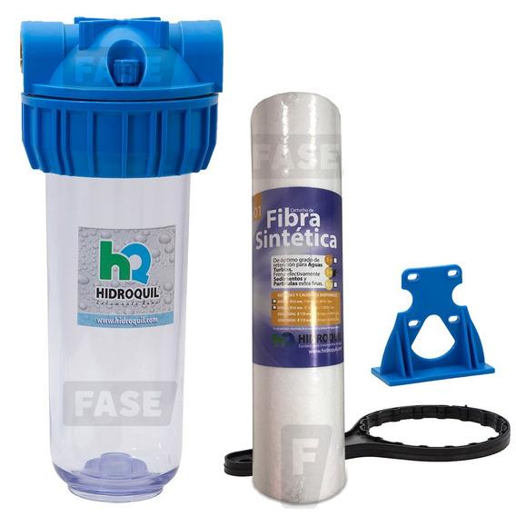 Filtro Agua Hidroquil 10´´ 1 Micrón Anti Arenilla Suciedad