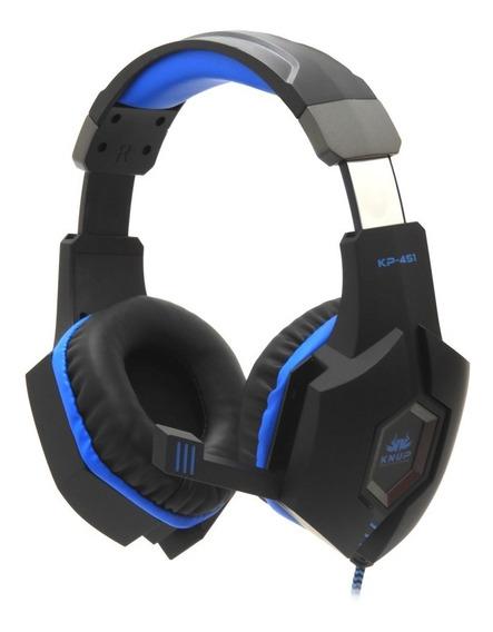 Fone Ouvido Headset Gamer Com Plug P2 E Microfone Para Pc, Para Ps3 E Ps4 Ajustável K451