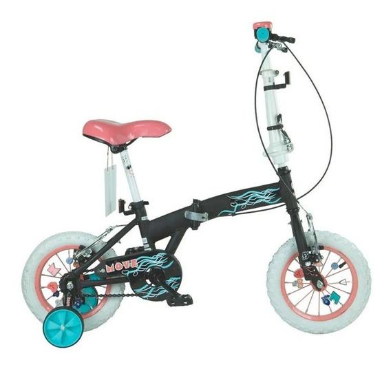 Bicicleta Bia Rodado 12 Plegable Cuadro Para Niños