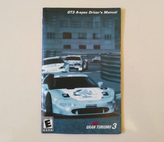 Somente O Manual Gran Turismo 3 Ps2.