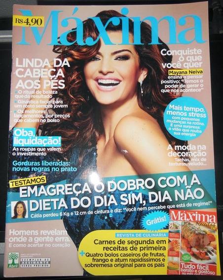 Revista Máxima Nº 27 Mayana Neiva Max Receitas Agosto 2012