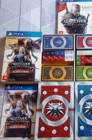 Jogo The Witcher 3 Físico Ps4 + Baralho Blood And Wine