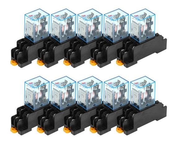 10pcs Relé De Poder Bobina Ac220v Definir Ly2nj 8-pin 10a Re