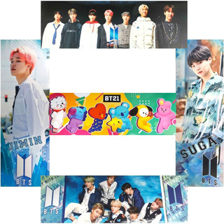 Bts 5 Poster Largo Kpop Jimin Rap Monster Suga Moda Asiatica