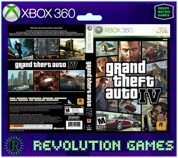 Gta Iv - Jogo Para Download Da Live Xbox 360
