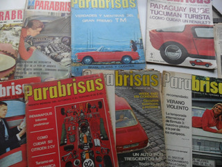Antiguo Lote 8 Revista Parabrisas 1966 1963 No Automundo