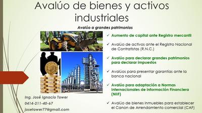 Perito / Avaluos / Patrimonios / Activos Industriales