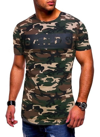 Polera Larga Extendida Diseño Militar