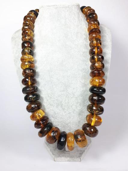 Collar De Ámbar Original De Chiapas, Donas Grandes, Hermoso