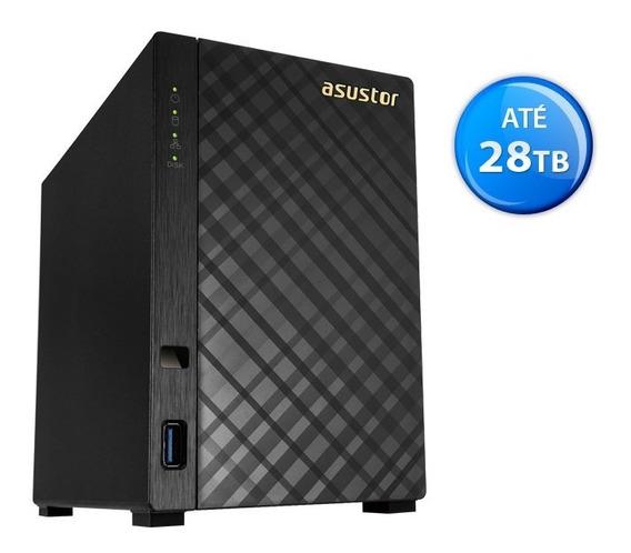 Nas Asustor As1002t V2 Marvell Dual Core 2 Baias S/ Disco