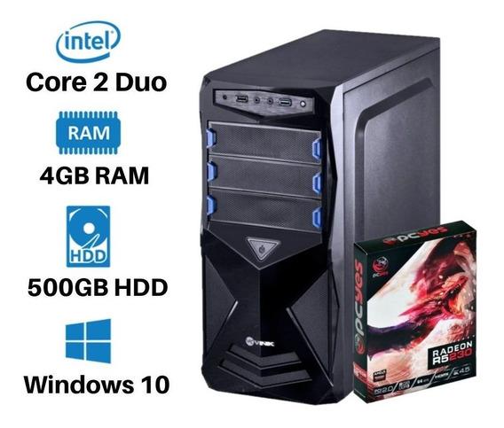 Pc Gamer Hd500 4gb Core 2 Duo Até 12x Sem Juros