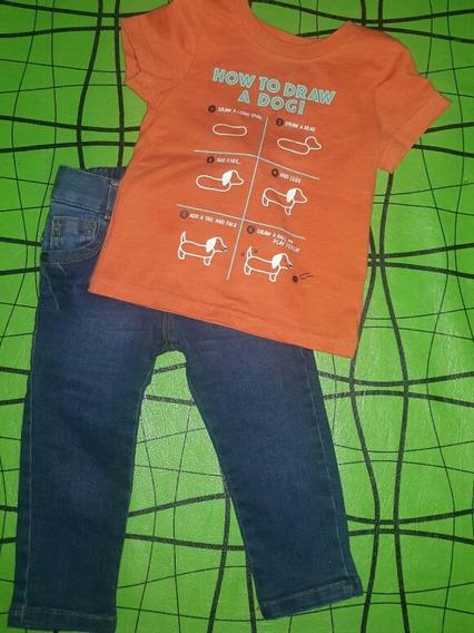 Pantalon De Jeans Chupin Y Remerita