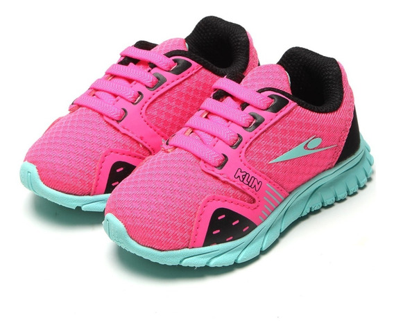 Tênis Klin Freedom Pink Turquesa Imperdível Cód: 378
