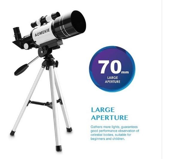 Monóculo Telescópio Refractor F300-70m Hd Com Finderscope