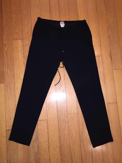 Pantalón Negro De Vestir Suelto De Crepe. Talle M