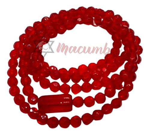 Imagem 1 de 8 de Guia De Pomba Gira Vermelha Cristal 147 Contas Umbanda