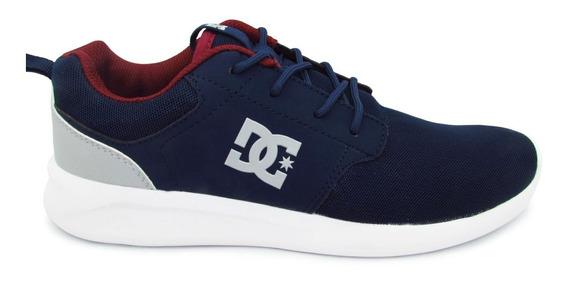 Tenis Dc Shoes Midway Sn Mx Adys700096 Nwh Navy White