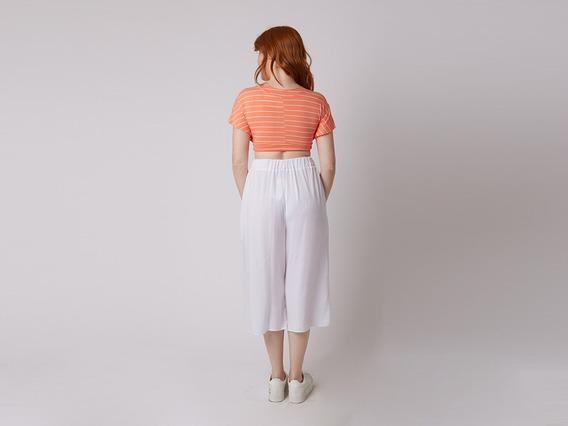 Blusa Malha Estampado Cropped Mercatto 46323