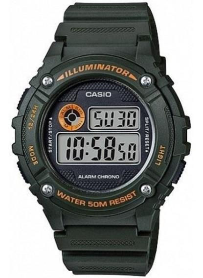 Relógio Casio Digital W-216h-3bvdf Verde