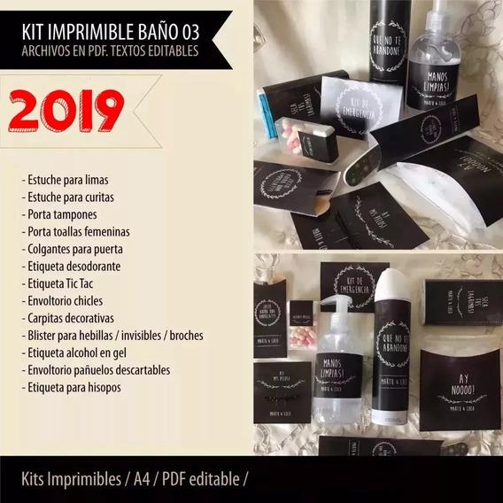 Kit Imprimible Sos Canasta Baño Casamiento Y Fiestas