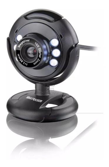 Webcam Visão Noturna 16mp Com Microfone Wc045 Multilaser