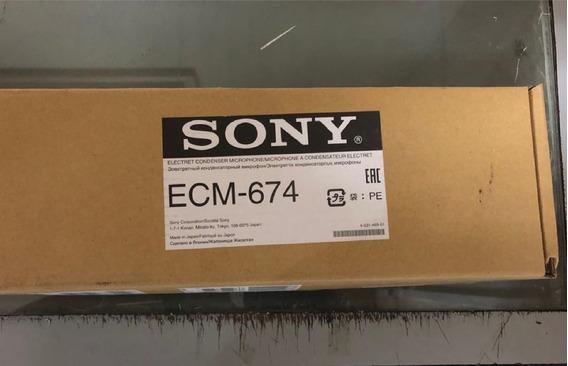 Microfone Boom Sony Ecm-674/9x1 Novo