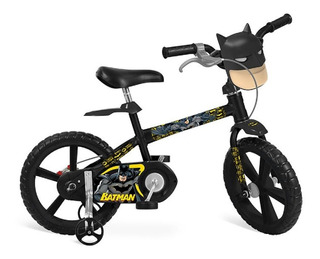 Bicicleta Infantil Aro 14 Alumínio Batman Menino Bandeirantes