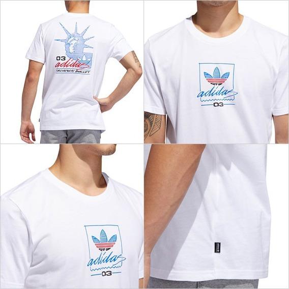Playera adidas Hombre Blanco Grand Tee Du8341