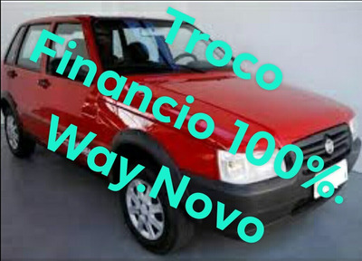 Fiat Uno 1.0 Way Mille Economy Vermelho 2011/4 Portas/novo !
