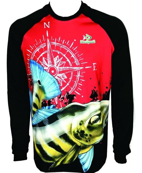Camisa,camiseta De Pesca, Proteção Uv 50+ Kaapuã Kp01
