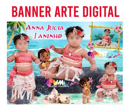 Imagem 1 de 4 de Banner  Moana Arte Digital