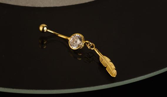 Piercing De Umbigo Banhado A Ouro 18k